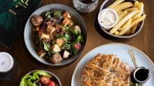 The menu is modern Australian with Asian and Mediterranean influences.