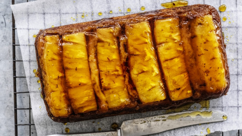 A new take on pineapple upside-down cake.