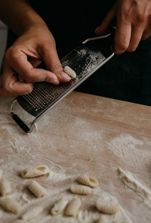 No fancy equipment necessary: you can use a Microplane grater, pictured, or even the ridges on a crusty loaf of bread to ...