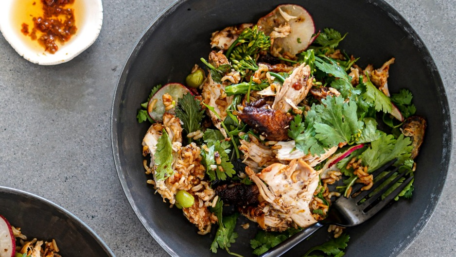 Add a Korean kick to roast chicken (and salad).