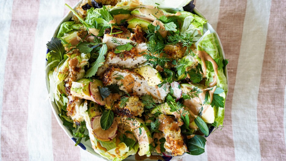 Katrina Meynink is on a mission to bring back the iceberg lettuce with this chicken salad.