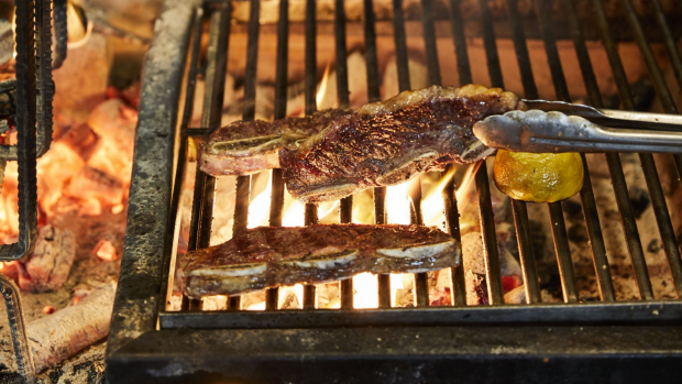 Grilled flanken-style short ribs with lemon and olive oilfrom Always Add Lemon. Always Add Lemon by Danielle Alvarez published by Hardie Grant Books. Photographer: © Benito Martin and Jess Johnson