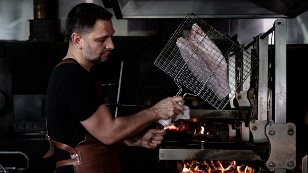 Lennox Hastie recommends grilling barramundi with the skin on.