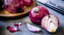 The red colour in red onions is caused by natural pigments called anthocyanins.
