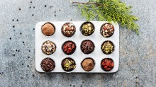 Add a plant-based twist to your celebrations with chocolate truffles.