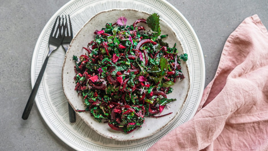 This Christmas coleslaw is hard to beet.
