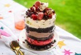 Black Forest Christmas Dazzle ice-cream and brownie layer cake.