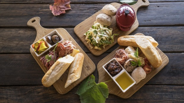 Lunch menu items available from the cafe at Long Track Pantry, Jugiong. Long Track Pantry,Jugiong. Photo: must creditDestination NSW For Amy Cooper travel story for Good Food, Nov 17, 2020