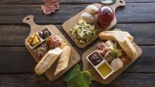 Lunch platters at Long Track Pantry, Jugiong.
