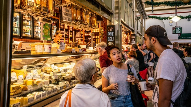 The Queen Victoria Market is the perfect place to pick up all your cheese and charcuterie board essentials.