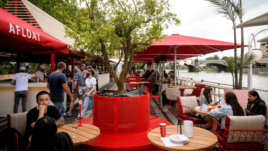 Welcome back aboard, Melbourne: the new-look Arbory Afloat pontoon is set for summer.