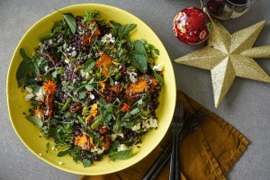 Ridiculously tasty AND ridiculously good looking: Pumpkin, green bean and black rice salad with lemon thyme dressing.