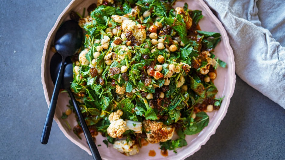 This salad will get you back on the roasted cauliflower bandwagon.