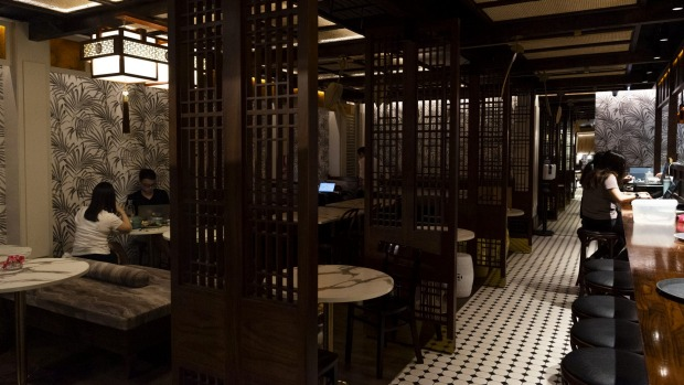 Nanyang Tea Club's interior has been inspired by Raffles Hotel in Singapore and the Eastern & Oriental Hotel in Penang.