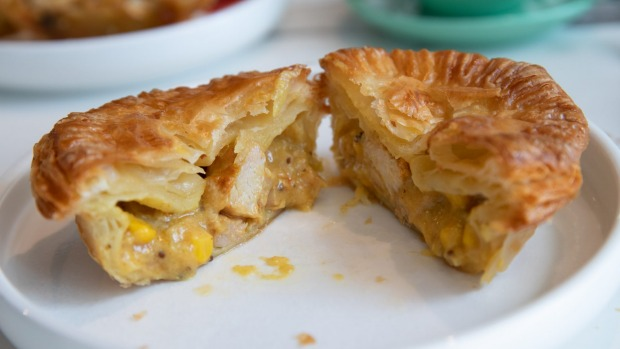 Banksia Bakehouse's signature buttery pastry also encases its pies.