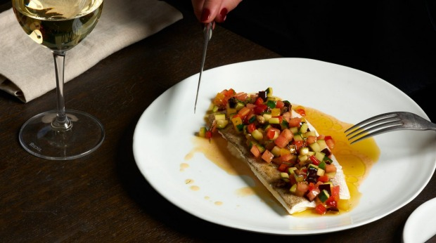 King George whiting and ratatouille.