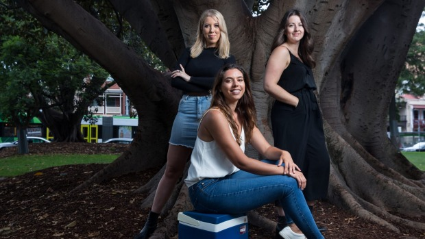 The Age, Good Food .The Empty Esky team,  Erin, Eleanor and Elise have started a campaign to save businesses affected by the bushfires.Pic SImon Schluter 20 January 2020.