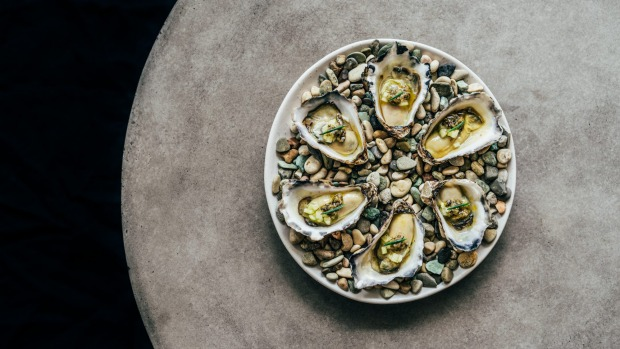 Bangalay's plate of oysters.
