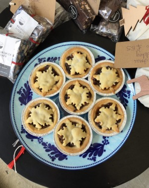 """""""Mince pies made with love"""" from chef Tracey Lister at Brunswick Kitchen."""