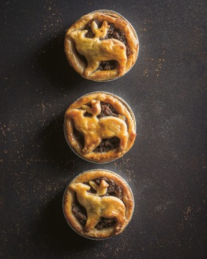 Feather and Bone's ye olde mincemeat pies. Styled by Emma Knowles.