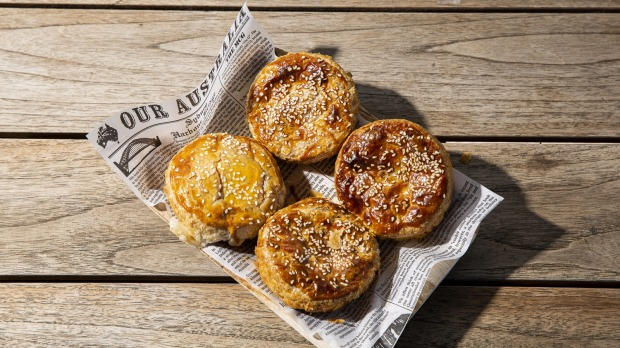 Mr Brownie,South Melbourne, offers loads of spicy snacks including butter chicken pies.