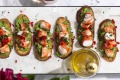This crostini is a great way to make prawns go further for an entree.