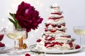 This stacked pavlova Christmas tree makes a grand table centrepiece.