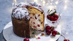 Ice-cream-stuffed panettone.