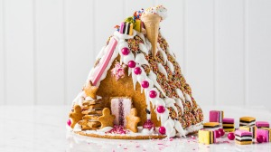 Anna Polyviou's gingerbread house complete with Iced VoVo front door.