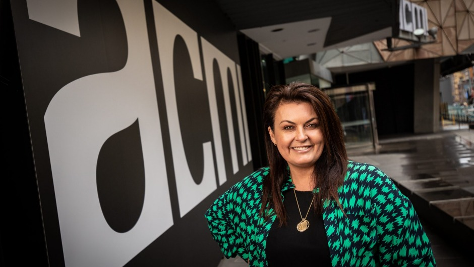 Chef Karen Martini outside ACMI in Federation Square, where her new restaurant will open in February.