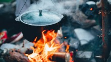 Flexible thinking: Cooking while travelling is usually less precise than in a kitchen.
