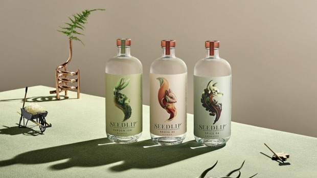 "Seedlip's range of non-alcoholic ""spirits""."