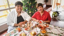 Ross Magnaye and his mother Riza, who will be celebrating Christmas Day at their family home in Melbourne's northern ...
