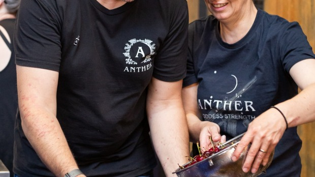 At Anther Distillery in Geelong, cherry gin production is under way.