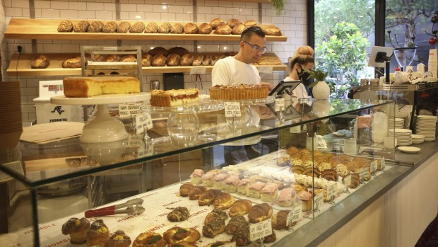 Time your visit to get the best selection from Humble Bakery's pastry counter.