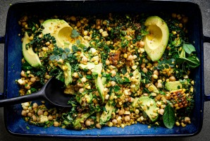 There's no shortage of avocado in this grain salad.