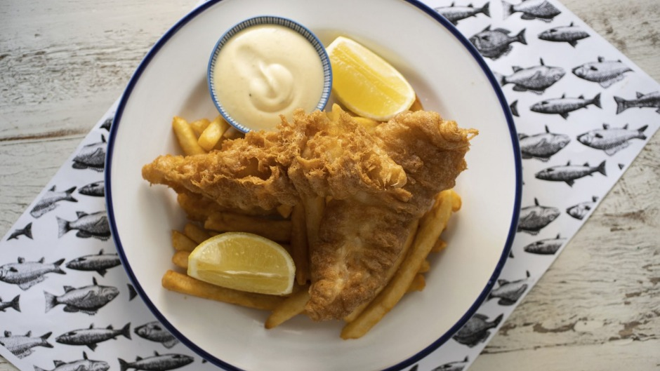 The beer-battered fish and crunchy golden rods at Fich in Petersham, Sydney.