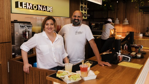 Veronica Papacosta and her brother Paul Papacosta, owners of Fish and Lemonade on Manly Wharf.