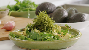 Create a sophisticated salad combination that heroes deliciously creamy Aussie avocados.