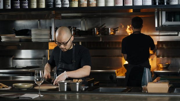 Sunda Dining's Khanh Nguyen prepares a dish for Providoor.(Melbourne)