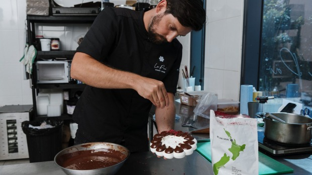 """""""It's still only me in the kitchen,"""" says Vanier, who uses high-end ingredients such as Valrhona chocolate to make his ..."""