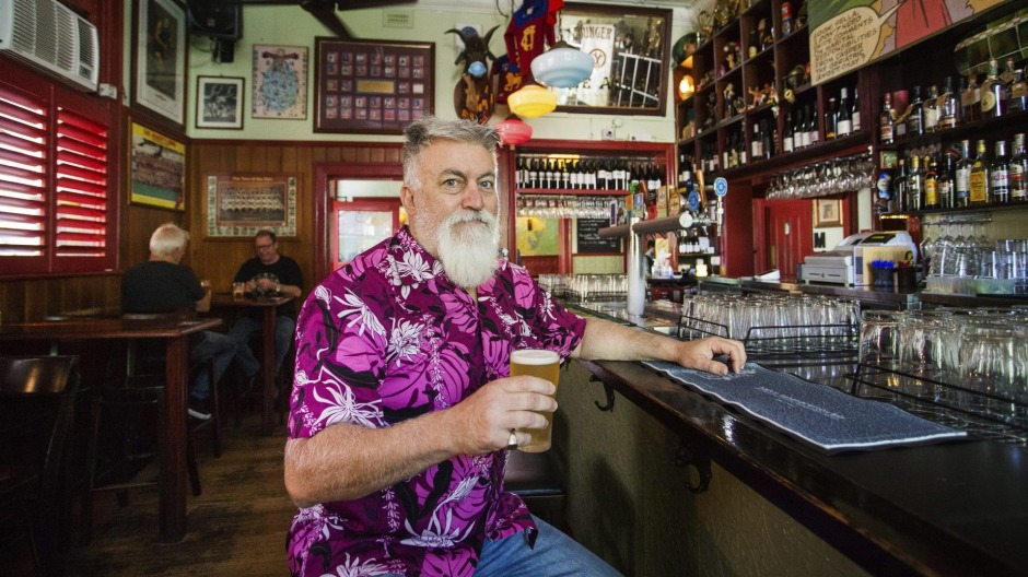 Guy Lawson, owner of the Napier Hotel in Fitzroy.  The Age NEWS 22 Jan 2021