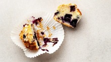 Don't over-mix your muffin batter.