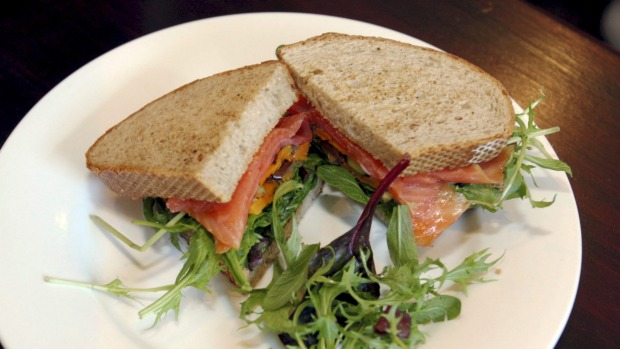 A protein-rich sandwich filling such as smoked salmon and plenty of salad transform a light lunch into a filling meal.