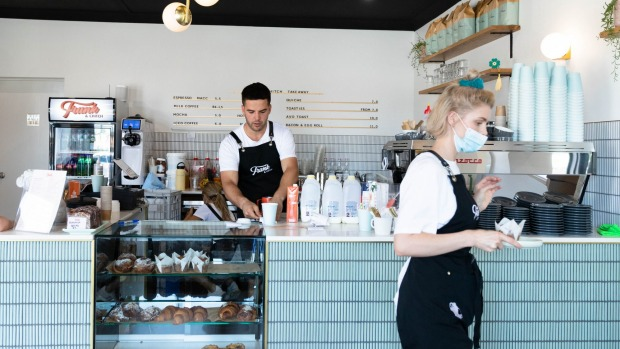 Frank & Chitch cafe in Earlwood has generous servings and immaculately smart decor.