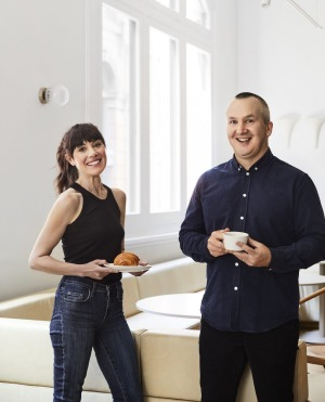 Kate Reid of cult croissanterie Lune and Melbourne cafe king Nathan Toleman joined forces for the World's Longest Brunch.