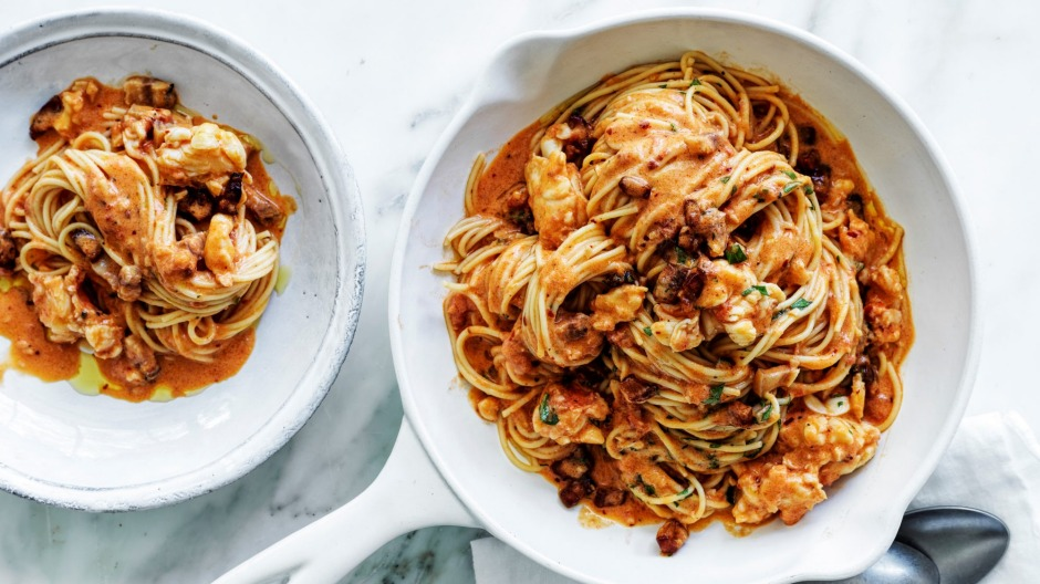 Neil Perry's lush lobster pasta.