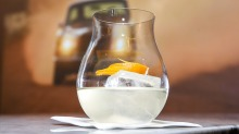 White vermouth releases its subtleties with only ice and lemon for company.