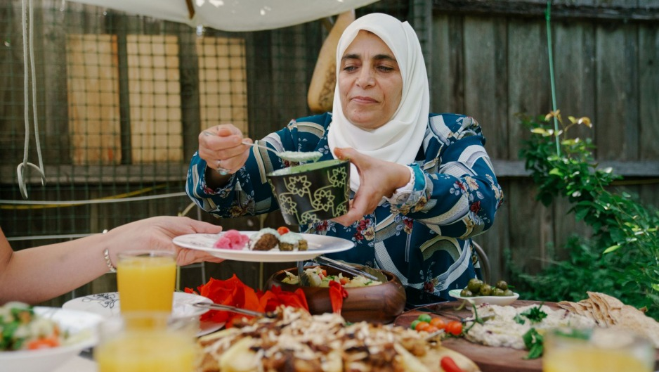 Palestinian asylum seeker and chef Aheda is donating recipes Feast for Freedom.