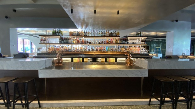 The polished interior is the work of Thomas Jacobsen, the designer behind Otto Ristorante.